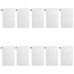 Duokon 10 pièces Sac en Filet de Nettoyage récupérateur de déchets de Feuilles Sacs filtrants à Mailles Fines pour aspirateur de Piscine avec Fonction de Fermeture à glissière spéciale