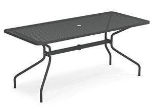 Emu Cambi Table rectangulaire 180 x 80 cm Art. 810 couleur fer antique code 22