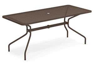 Emu Cambi Table rectangulaire 180 x 80 cm Art. 810 Couleur marron d'Inde code 41