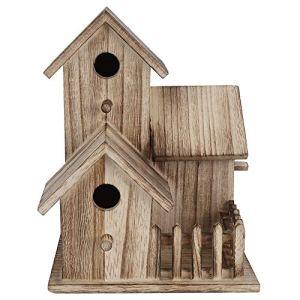 FAMKIT nichoir en bois petit jardin extérieur boîte de nidification d'oiseaux maison d'oiseaux fournitures pour animaux de compagnie décoration (ne convient pas aux grands oiseaux)