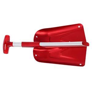 FOLOSAFENAR Pelle à Neige Pliante Robuste, pour Les fêtes de Famille(Red)