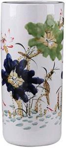 GAOYINMEI Table Basse Vase Vase Vases en céramique Grand Classique étage Permanent for Fleurs à Sec Décoration Art Accueil Ménage Salon Hôtel Chambre Bureau Blanc 25 X 55 cm Décorations