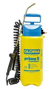 GLORIA Prima 5 Comfort, Pulvérisateur à pression de 5L et tuyau à spirales