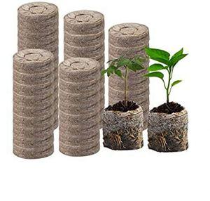 Granule de Tourbe – démarreur de Plante de 30mm, Engrais nutritif comprimé pour la Transplantation de semis de Plantes en Croissance de légumes à Fleurs d'herbes (100Pcs)