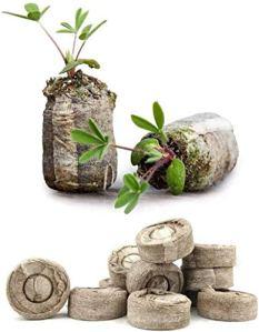 Granules de Sol de Tourbe,Tourbe compressé pour la Transplantation dans Le Jardin ou Le Pot de Jardinage Aide à éviter Le Choc racinaire cultiver des légumes à Fleurs d'herbes (100pcs Blocs)