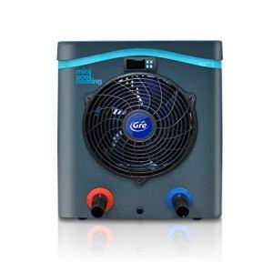 GRE HPM40 HPM40-Mini Pompe à Chaleur pour Piscine Hors Sol jusqu'à 40 m3, Noir