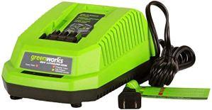 Greenworks Chargeur de batterie au lithium pour outils de jardin et outils électriques de la série 40 V