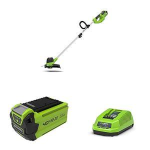 Greenworks Tondeuse à Batterie G40LT + Batterie G40B2 2ème génération + Chargeur de Batterie G40UC