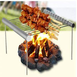 Grill BBQ Portable Pliant en Acier Inoxydable BBQ Grill Mini Pocket Barbecue Grill Barbecue Accessoires pour la Maison/extérieur Parc