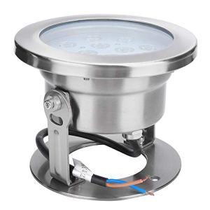 Guoenir Lumières LED Submersibles, lumière LED sous-Marine 12W RVB, lumières sous-Marines étanches, Lampe de Fontaine étanche pour Piscine extérieure((Lumière colorée))