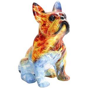 GYUGSD Simulation de Transfert d'eau Bulldog Art Ornements Salon décoration de Sol Dessin animé Mignon mobilier Artisanat