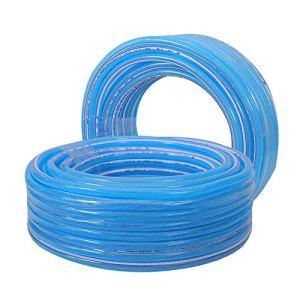 HAIYU- Tuyau de Jardin Flexible Tuyau d'eau Transparent en PVC, Structure Composite à 3 Couches, Souple et Résistant à l'usure, Diamètre de Tuyau de 1/2 Pouce, 3/4 Pouce et 1 Pouce