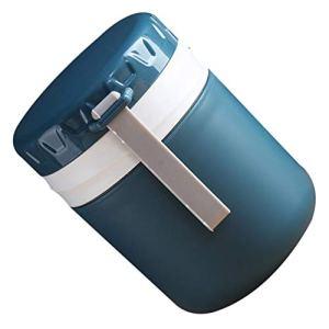 Hemoton Tasse de petit-déjeuner avec cuillère – 450 ml – Tasse thermique à soupe – Anti-fuite – Double couche – Pour nourriture, céréales, nouilles, avoine, lait, yaourt – Bleu