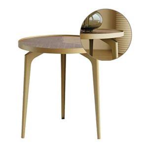 HGXC Tables Basses Table de Salon Canapé Table d'appoint Petite Table Ronde Table d'angle en Fer Table de Chevet Table de terrasse extérieure