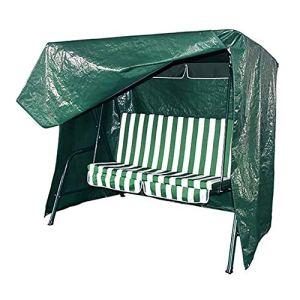 Housse Balançoire Jardin en Tissu PE Plein Air Toute L'année Disponible Facile À Nettoyer Anti-Poussière Étanche Anti UV 244 * 145 * 170 Cm Vert