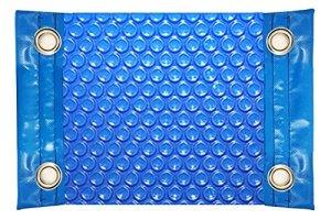 International Pool Protection Couverture Thermique de 600 microns économique avec Renfort dans Les côtés étroits + Oeillets en Acier Inoxydable 8 x 4m.