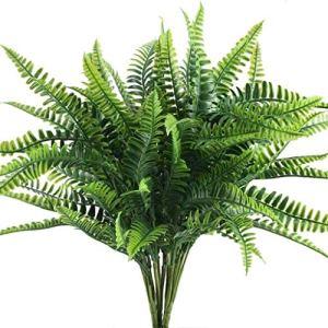 Kuinayouyi Plante Artificielle FougèRe Arbuste Plante Arbuste pour Jardin ExtéRieur Bureau Balcon DéCoration de Mariage / 10 Grappes