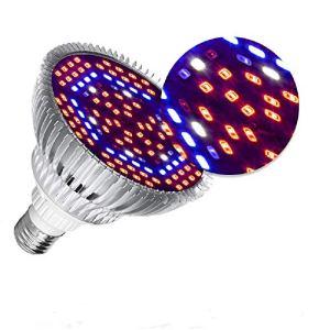 Lampe de Croissance LED à Spectre Complet 50W, pour Plantes D'intérieur Légumes et Feurs, E27 Ampoule LED pour Serre Hydroponique, Durable et Haute Efficacité