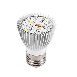 Lampe de culture à LED, spectre complet E27 LED élèvent une ampoule pour plantes d'intérieur organiques à effet de serre hydroponique