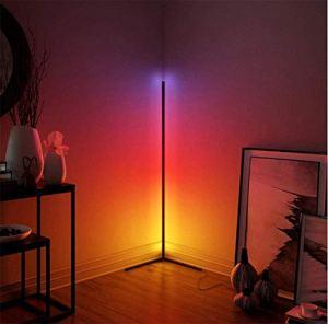 Lampe de Sol RVB Changement de Couleur Change LED Coin Lampe de Plancher de Style Minimaliste Moderne, Lampe Debout à lamission à lamission avec télécommande pour la Salle de Jeu
