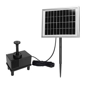 LARS360 2W Solaire Pompe pour fontaines Pompe à eau solaire Pompe de bassin solaire pour décoration de petit étang de jardin extérieur avec 4 Buses