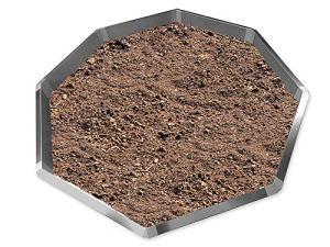 Les idées de la tôle depuis 1920 type 02 VDH Galvalume® Alu Zinc Feuilles en forme de diamant 16-pièces 8 x 1,0 m + 8 x angle 135° Diamètre 2,65 m