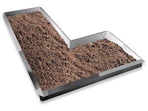 Les idées de la tôle depuis 1920 type 02 VDH Galvalume® Alu Zinc Set Forme en L 10 x 1,0 m + 5 x joint d'angle 90° + 1 x joint d'angle 270°. Diamètre 2,65 m