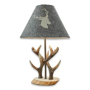Loberon Lampe à poser Lodge – pin, fer – H/D env. 42/28 cm – gris