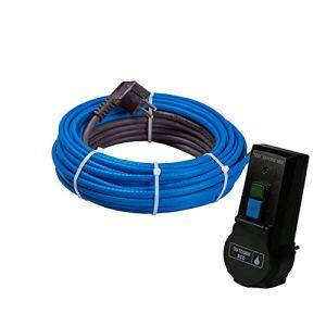 Mi-Heat Câble chauffant antigel 15 W/m 2 m + fiche de protection des personnes