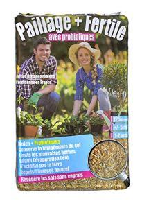 Miscanthus Green Care – PAILLAGE Mulch + PROBIOTIQUE – Paillis de miscanthus – 125 litres