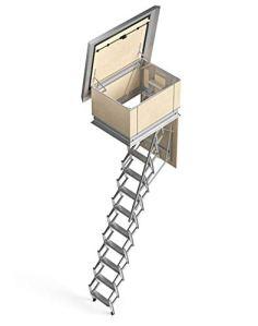 Mister Step SKY Echelle rétractable de terrasse 9 marches Hauteur totale 250 cm (A60 x B120 cm)