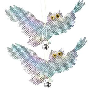 Oiseau Scare Répulsif Dispositif Oiseau Répulsif Hibou Oiseau Oiseau Dissuasion Scarer Pest Répulsif Woodpecker Contrôle Pour Dissuasion 2pcs Orchard Balcon Jardin