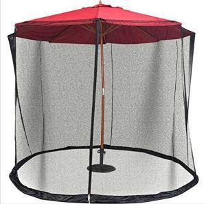 Olaffi Patio Parapluie Moustiquaire, Jardin extérieur Parasol Table écran Housse pour Parasol Moustiquaire extérieur Couverture, pour des Meubles de Patio