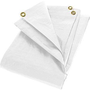 PolyTarp 280g/m² Bâche de protection pour PE en blanc