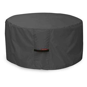 porche Shield 100% étanche carré 600d Heavy Duty Housse pour table de foyer/terrasse 32»L x 32»W x 16″H Round – Black