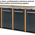 Reinkedesign Cache-poubelle en acier inoxydable avec poteaux en mélèze (1 x 240 l, bac à plantes et design F)