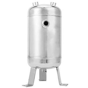Réservoir de réserve de gaz miroir en acier inoxydable 1.25MPa 5L 304, 1/2 1 / 4NPT réservoir de stockage d'air vertical haute pression à 4 ports, adapté à un usage industriel