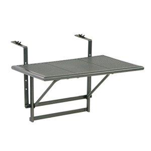 Ribelli® Table de Balcon Suspendue Rabattable 60 x 40 x 56 cm, Table Pliante pour Balcon à Suspendre Réglable en Hauteur