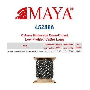 'Rouleau chaîne tronçonneuse LP 3/8«1,3mm–0,051640maillons sans première qualité profil semi rond long–452866