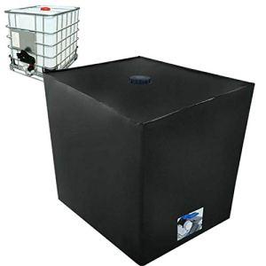 Schildeng IBC Réservoir d'eau, boîte de rangement, housse de protection imperméable à la pluie et à la poussière Grande housse respirante pour réservoir d'eau de pluie 1000 L Noir