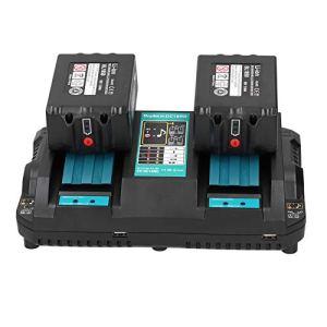 SEDOOM Chargeur De Batterie Au Lithium 2 Ports, pour Makita DC18RD Faible Fast INDUSTRIED Fournitures 100-240V, Prise EU