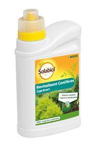 Solabiol SOCYP750N   Engrais Cyprès Vert Revitalisant Conifères   750ml   Jusqu'à 25L en Pulvérisation, Action Rapide