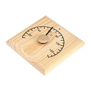 【Spécial Nouvel An 2021】Taidda de Fin d'année Thermomètre de pièce de Sauna, mètre en Bois d'appareil de contrôle d'affichage de la température 0~140 Therm Thermomètre fixé au Mur pour la pièce de Sau