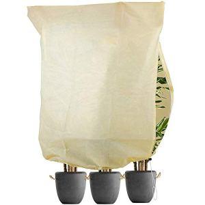 TOCYORIC Housse d'hivernage pour Plante, Voile d'hivernage Housse de Protection Anti-Givre Non absorbante et Respirante Contre Le Vent d'hive,180x120cm