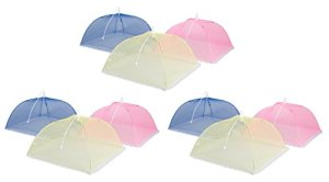 Trademark Innovations Lot de 3 couvertures Alimentaires Pop Up, POPUP-Dome-9, Bleu, Rose, Jaune, Pack of 9