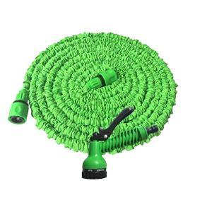 Tuyau d'arrosage multi-fonctionnel à haute pression de lavage de voiture Pistolet d'eau Jardin arrosage des fleurs Outil d'arrosage Tuyau pour jardin voiture 1set 75ft vert