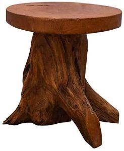 Un banc en bois est robuste en forme d'arbre, en teck recyclé,Wood color