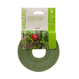 VELCRO Brand Alternative à la Ficelle, réutilisable et réglable sans nœuds | Ruban adhésif de Jardin a Une Forte adhérence pour Tomate et Vigne | Rouleau de 13,7 m x 1,27 cm.