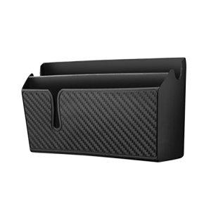 VORCOOL Organisateur de boîtes de rangement pour voiture, en fibre de carbone, porte-téléphone pour voiture, grande taille