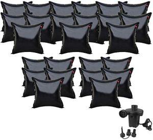 well2wellness 25X Coussin Gonflable d'hivernage Premium Black Edition + Pompe électronique 230V